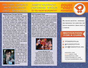 POP Foundation brochure