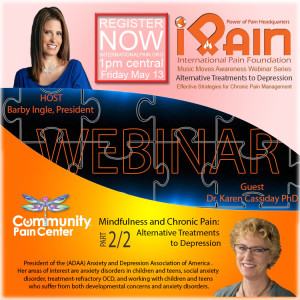 mindfulness iPain webinar youtube Karen Cassiday 2a of 2