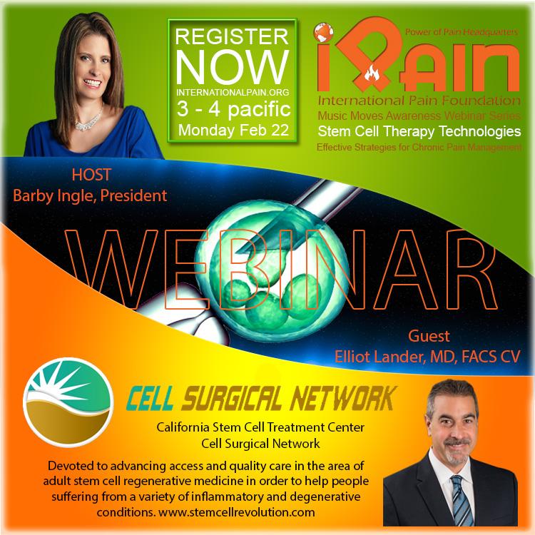 music moves awareness ipain webinar stemcell Dr Lander