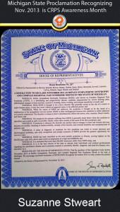 ipain Michigan 2013 crps awareness proclamation