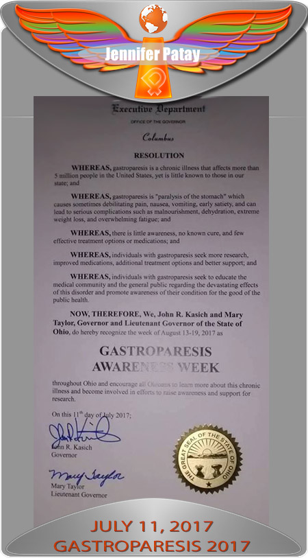 OH gastroparesis proclamation 2017
