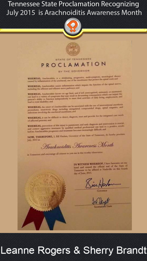 TN arachnoiditis proclamation ipain