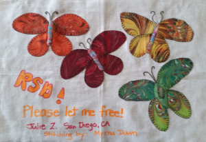 rsd butterflies quilt square