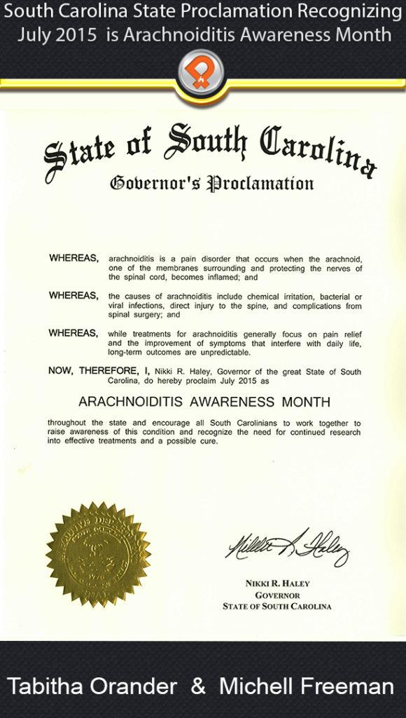 SC arachnoiditis proclamation ipain