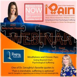 mindfulness iPain webinar youtube Melissa Geraghty
