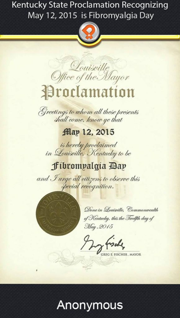 Kentucky Proclamation Fibro Day ipain
