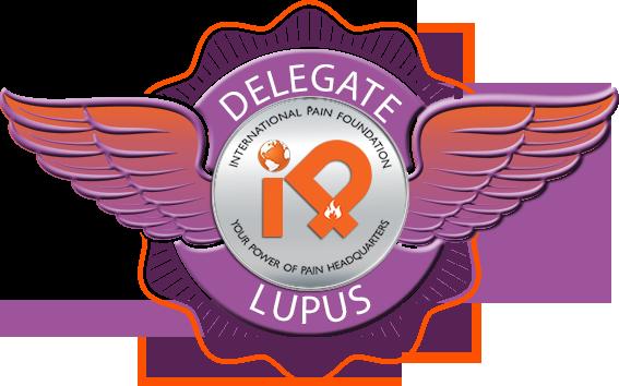 Lupus iPain Delegate Badge