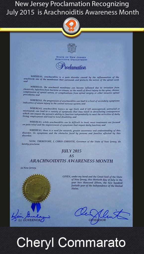 NJ arachnoiditis proclamation 2015 iPain