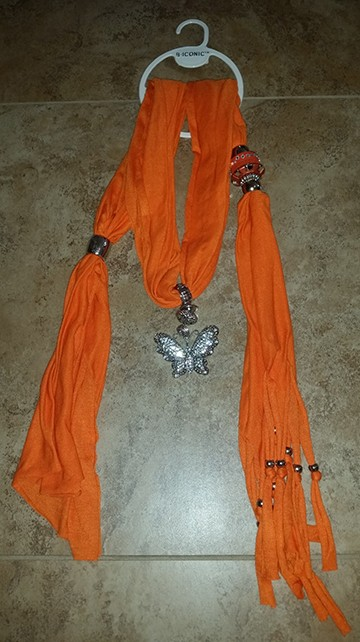 Orange Scarf a $25.00 value