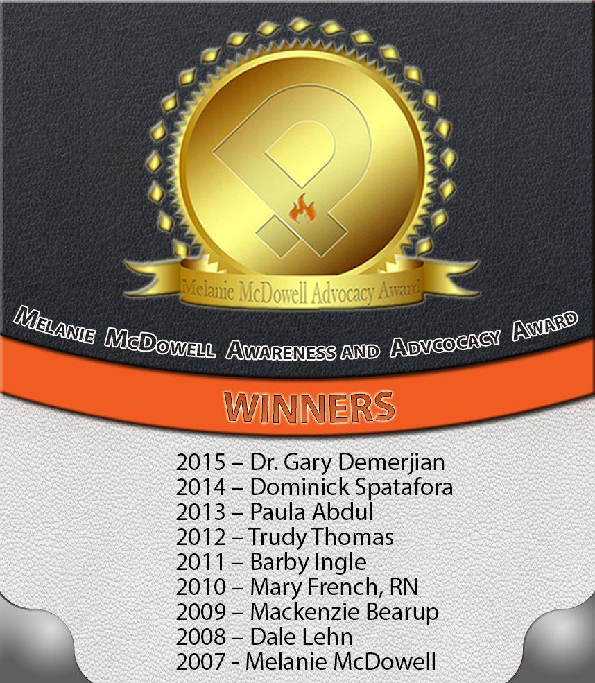 melanie mcdowell advocacy award winners ipain